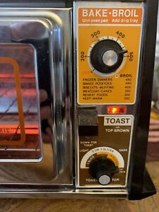 Vintage GE Toast N Broil Toast R Oven Toaster Oven General Electric TESTED WORKS