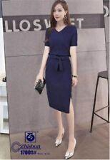 Plain Formal Dress - Navy Blue