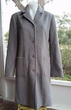 J. Crew Women's Wool Cashmere Winter Coat Gray Medium M