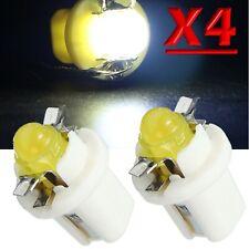 4 LED T5 B8.5D COB BIANCO SMD Lampade Lampadine Per Cruscotto Quadro Strumenti