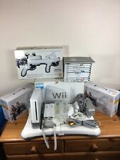 Nintendo Wii Console Bundle+10 Games+wii Fit Board