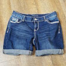 Maurices | Womens/Juniors Size 9/10 Blue Cuffed Bermuda Denim Jean Shorts