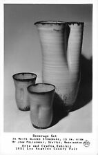 Frashers RPPC Stoneware Beverage Set Exhibit LA County Fair California~124078