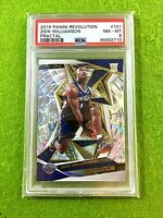 ZION WILLIAMSON FRACTAL PRIZM ROOKIE CARD GRADED PSA 8 SP RC  2019-20 Revolution