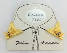 Western Country Collar Tips Kragenecken  Kragenspiegel Gold Cowboystiefel