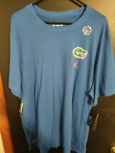 Nike Dri Fit Florida Gators T Shirt Blue NWT $35 XXL Jordan men's