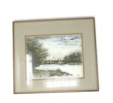 Frank Kaszas Framed Vintage Lithograph Print Signed & Numbered 105/300 Bridge