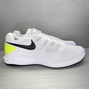 Nike Air Zoom Vapor X Tennis Shoe White Black Volt AA8030-107 Men's Size 12