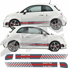 Fiat 500 595 Abarth  Martini Side Stripes Decals Stickers Vinyls quality
