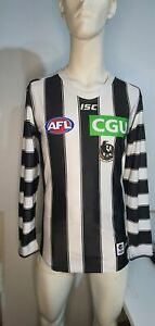 2018 Collingwood Magpies AFL AWAY Player Issue Guernsey Long Sleeve