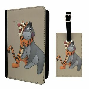 Luggage Tag &/OR Passport Holder Winnie The Pooh Tigger And Eeyore - G1330