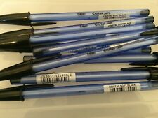 5 x Bic Cristal Soft BLACK Ballpoint Pen Stationary *CHEAPEST ON EBAY*