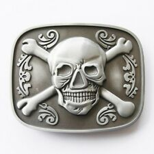 Flaschenöffner Gürtelschnalle - Original Tattoo Skull Flower Bottle Opener