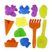 12PCS Kids Beach Toy Set Beach Shovel Sandbox Toys with Mesh Bag Random Color FD