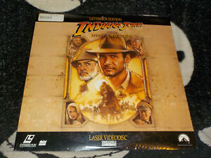 Indiana Jones And the Last Crusade NEW SEALED Widescreen Laserdisc Free Ship $30