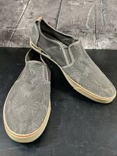 COLUMBIA Men's Vulc N Vent Slip On Casual Canvas Shoes Brown Palm Size 12