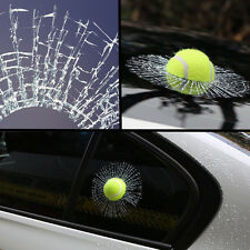 3D Crazy Tennis Ball Hit Windshield/Body Creative Car Sticker Smash Window Decal