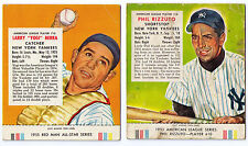 1953 Red Man All-Star $225 Phil Rizzuto #10 New York Yankees tobacco w/ tab
