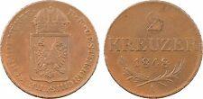 Autriche, 2 kreuzer, révolution, 1848 Vienne, cuivre, SUP - 66