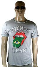 AMPLIFIED Offi. ROLLING STONES Team Brasilien Zunge Vintage Löcher T-Shirt g.S/M