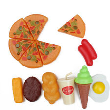 13pcs Funny Plastic Pizza Cola Ice Cream Food Kitchen Role Play Toy Set For Kids