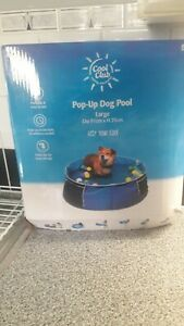 Dogs swimming pool pop up