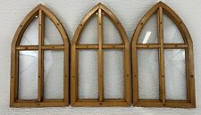 Vtg 4 Pane Small Arch/ Domed Windows 20 x 11 1/2 Set of 3 Architectural Pieces