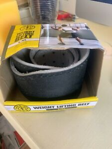 """Golds Gym Leather Weight Lifting Training Belt - Back Support - 34""""-42"""" L/XL NEW"""