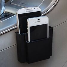 Black Car Plastic Cell Phone Holder Double Layer Storage Box For Iphone Sumsang