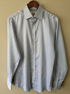 THOMAS PINK Printed Long Sleeve Button-Up Dress Shirt, Slim Fit, Large / 16