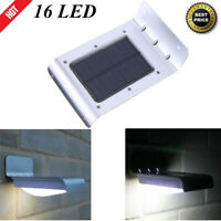 Solar Power Security Light 16 LED Motion Sensor Outdoor Wall Lamp Waterproof US