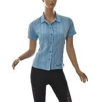 Jack Wolfskin Women's Casual Shirt Short Sleeve Broken Lines Print Striped EU-M