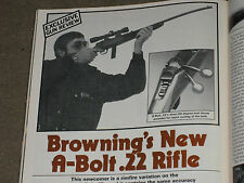 SHOOTING TIMES TESTS A-BOLT 22 RIFLE, RUGER GP-100, PARKER REPRO DBL, 45 LC LDS