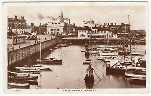 Suffolk; Yacht Basin, Lowestoft 2315 RP PPC, 1956 PMK, To A Simmonds, Clayton