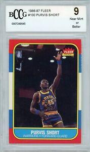 1986-87 Fleer F/G Purvis Short Golden State Warriors Card #100 BCCG9 NR MINT WOW