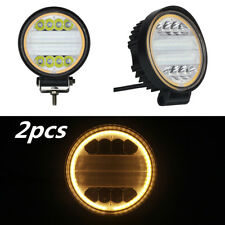 2pcs 120W LED Work Light Flood Truck Driving Fog Lamp Square 4WD For Jeep Boat