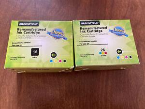 Lexmark 16 & 26 Combo Pack Black and Color Ink Cartridges - NIP