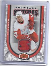 06-07 2006-07 FLAIR SHOWCASE JASON WILLIAMS STITCHES JERSEY SS-WI RED WINGS