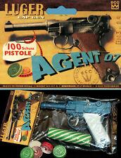 James Bond Guerra Mundial Luger Pistola 07 Fulminantes Amorces 70er Hong Kong