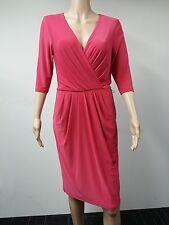 NEW - Ralph Lauren - Size 10 -  Three Quarter Sleeve Dress - Bright Pink - $134