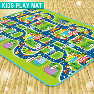 Large Kids Mat Carpet Playmat Rug City Life Carpet Educational Car Play Game Rug