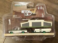 GREENLIGHT 1/64 HITCH & TOW 1970 FORD F-100 POP-UP CAMPER TRAILER 32100-B CHASE