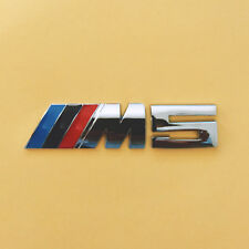 BMW Performance M5 Power W: 85mm x H: 20mm Emblem Badge Decal Aluminium Chrome