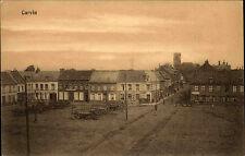 Carvin Frankreich CPA France AK ~1910 Straßenpartie im Dorf Personen Häuser