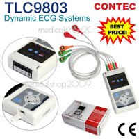 NUEVO TLC9803  CE 3 canales ECG ECG  Holter  Grabadora  Monitor Sistema Software