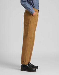 LEE 101 70'S CARPENTER RELAXED FIT BROWN WORKWEAR DENIM JEANS W32 L32  RRP £140