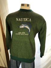 Vintage Nautica Sweatshirt Marlin Fishing Theme Size Xl Made in Usa