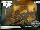 GI Joe Harley Davidson Electra Glide Police Bike, DAMAGED BOX (SEE PHOTOS)