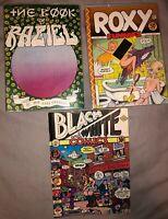 Lot Of 3 Comics The Book Raziel 1st Roxy Funnies 1st Black & White Apex Novelty
