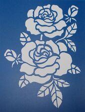 Scrapbooking - STENCILS TEMPLATES MASKS SHEET - Roses 02 Stencil